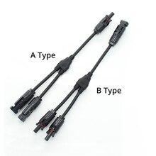 PV et connecteur 2 à 1, branchement avec câble solaire, 4 mm2, pour installation solaire