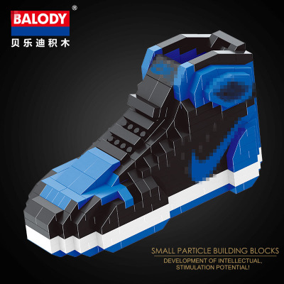 innovative design 42712 d438c US $4.24 47% OFF|sport Basketball shoes air jordan brick aj XI XIII III  assemable model diamond building block toy collection 18076 6-in Blocks  from ...