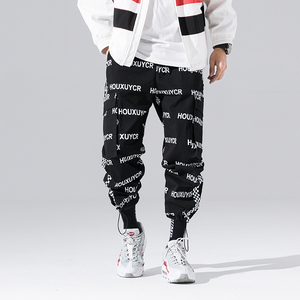 Image 4 - New Arrival Harajuku Japanese Style Letter Printed Fashionable Mens Jogger Trousers Hip Hop Autumn Casual Male Harem Pants