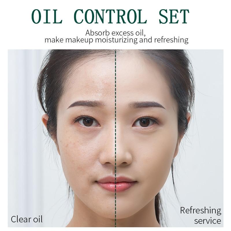 ILISYA Water Loose Powder Lasting Oil control Concealer Brighten Skin Cosmetics Ultra Light Matte Invisible Pores Skin FinishSet
