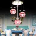 Simplicidad con estilo Led Lámpara de Techo Led de 3 Cabezas de Acero Inoxidable E27 220 v para la Decoración del Restaurante Iluminación Lámparas de Techo Techos