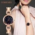 YOHEMEI Flor Assista Mulheres Relógios Senhoras relógio Famosa Marca De Luxo Feminino Relógio de Quartzo Relógio de Pulso Relogio feminino Montre Femme