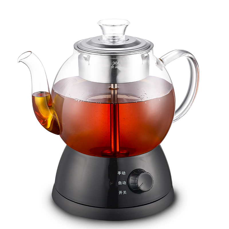 Full automatic thickened glass multi-function heating kettle steam black tea brewing /electric kettles Overheat Protection brass electric solenoid valve 2w 160 15 1 2 inch npt for air water valve 12v nc