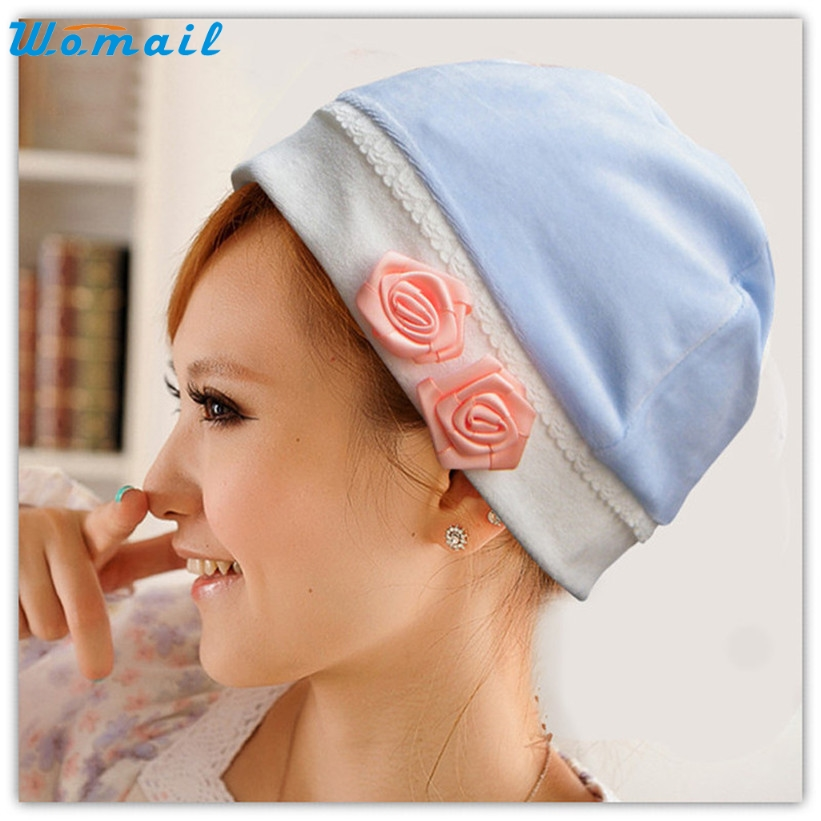 Lady's Skullies WOMAIL delicate Pregnant Mothers Soft Velvet Cap Maternal Prevention Wind Hat W7 skullies