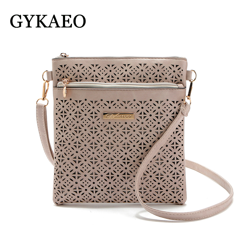 2018 Women Messenger Bag Hollow Out bolsa feminina bolso mujer Leather Shoulder Bag Small Crossbody Bags for Women Bucket Bags women bucket messenger bag purple shoulder bags for ladies handbag bolsa feminina small purse