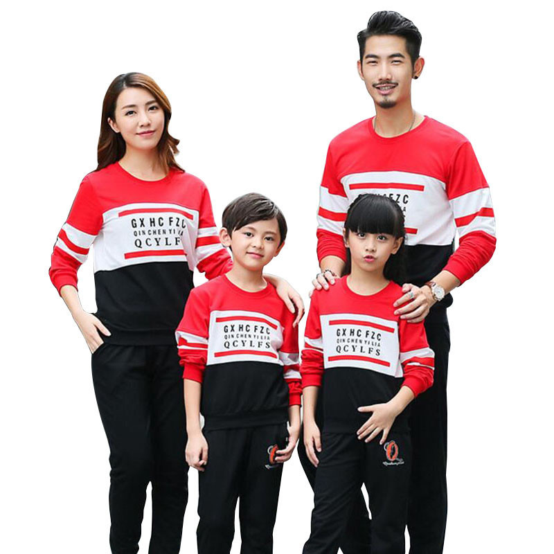 family clothing 2018 autumn girl boy clothes family