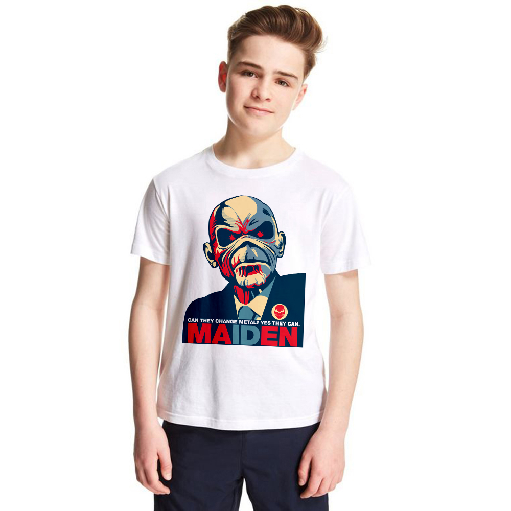 2018 New 3d t-shirt boys girls Iron Maiden Band Series 3d Printing Short Sleeve children Tshirts Streetwear Hip Hop kids t shirt