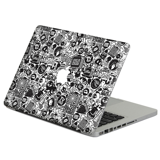 Black cartoon stick figure Laptop Decal Sticker Skin For MacBook Air Pro  Retina 11