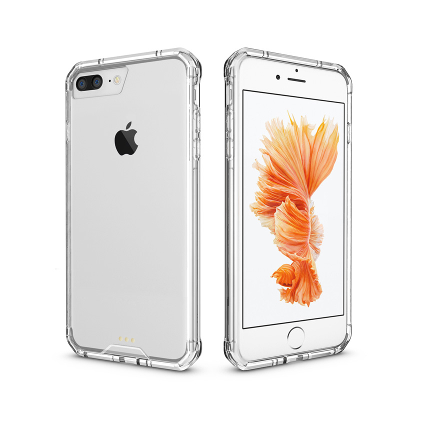 Armor Protective Sleeve Phone Case Hybrid TPU Frame Clear Crystal - Reservdelar och tillbehör för mobiltelefoner