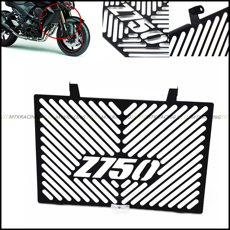 Stainless Steel Motorcycle Radiator Grille Guard Cover Protector For Kawasaki Z750  z750 2008-2012 08 09 10 11 12 motorcycle stainless steel radiator guard protector grille grill cover for kawasaki z750 2010 2011 2012 2013 2014 2015 2016