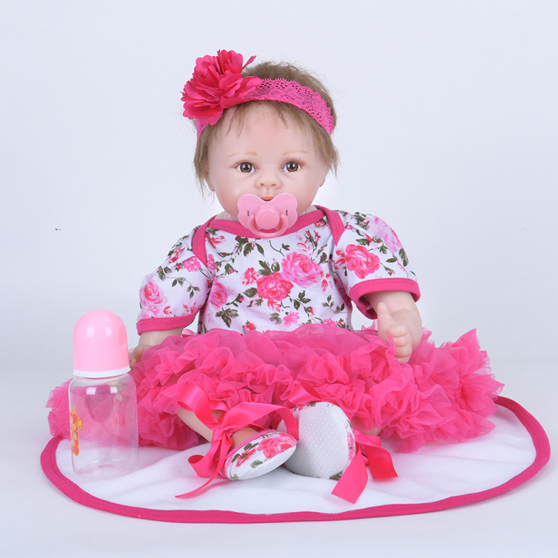 55CM Silicone reborn baby doll toys for girl, lifelike reborn babies play house toy birthday gift girl brinquedos bonecas our generation doll silicone reborn baby dolls for little girl lifelike reborn babies play house toy birthday gift brinquedods