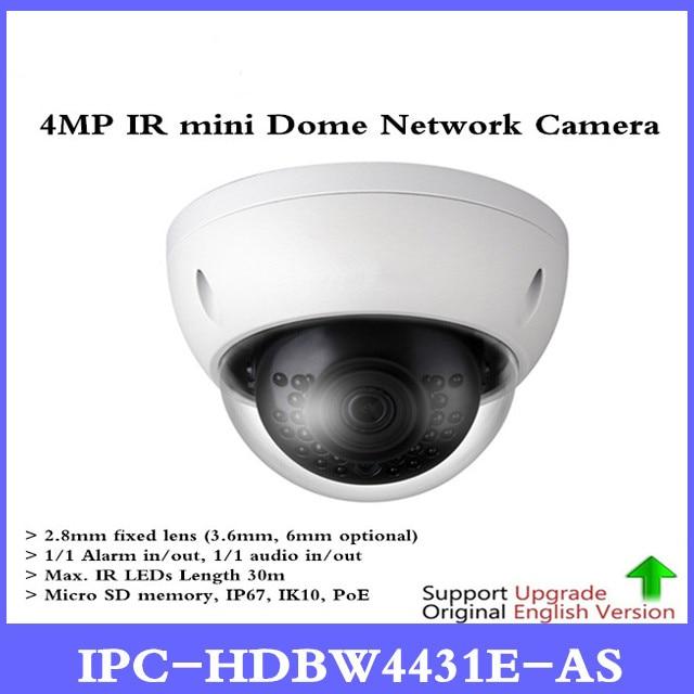 DH Original English IPC-HDBW4431E-AS 4MP POE Network mini Dome Camera replace IPC-HDBW4421E-AS and IPC-HDBW4421E IR IP Camera original and ipc 370vdf cpu high quality