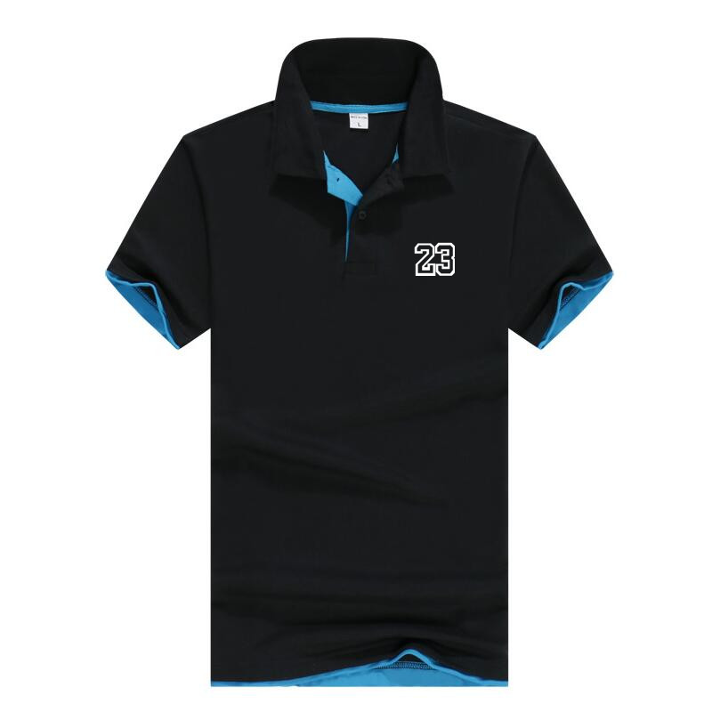 Summer   polos   Design V-neckhombre Jordan 23   Polos   Men Cotton Short Sleeve shirt Clothes jerseys Golf Tennis   Polos   Big Size 3XL