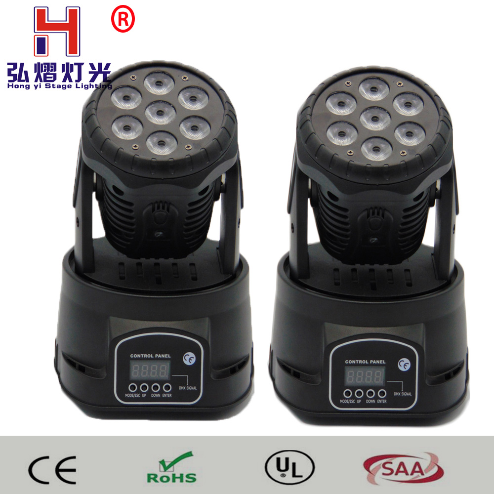 (2 pieces/lot)LED Moving Head Light RGBW 4in1 LEDs 14CH DMX512 wash mini Stage Disco DJ Lighting for Indoor Party Club trending hot products 7pcs 10w 4 in 1 rgbw led wash mini moving head dj light dmx512 holiday lighting for club disco decorations