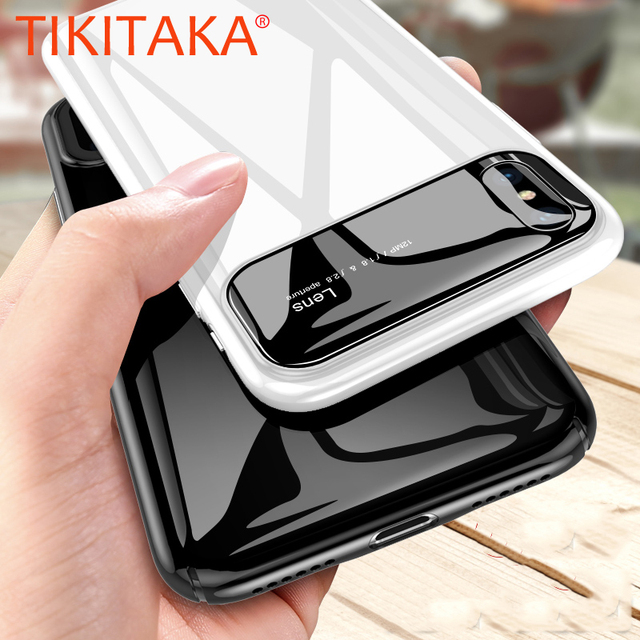half off 145eb c623b US $2.89 25% OFF|Luxury Smooth Mirror Case For iPhone X 8 7 Plus Cover  Matte Hard PC Phone Cases For Samsung Galaxy S9 Plus Shockproof Armor  Capa-in ...