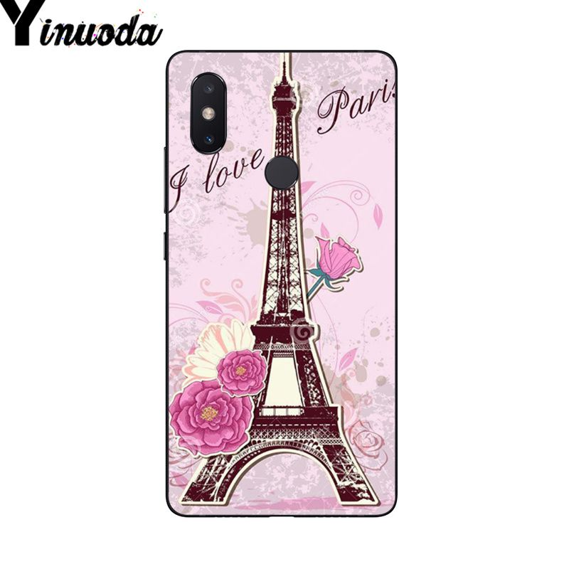 Yinuoda The Eiffel Tower paris love pink Design Phone Case for Xiaomi Mi 6  Mix2 Mix2S Note3 8 8SE Redmi 5 5Plus Note4 4X Note5