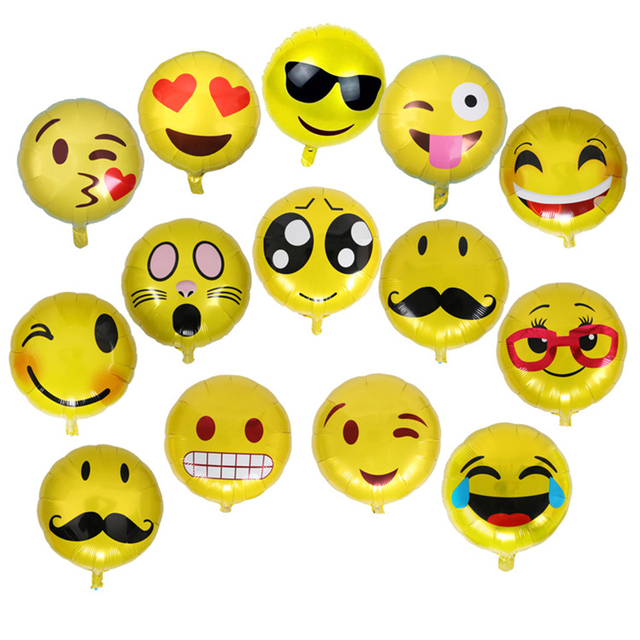 Find The Emoji Wedding.Aliexpress Com Buy 10pcs Set 18 Inch Emoji Balloons Smiley Face Expression Yellow Latex Balloons Outdoor Party Wedding Toy Balls Inflatable Balls