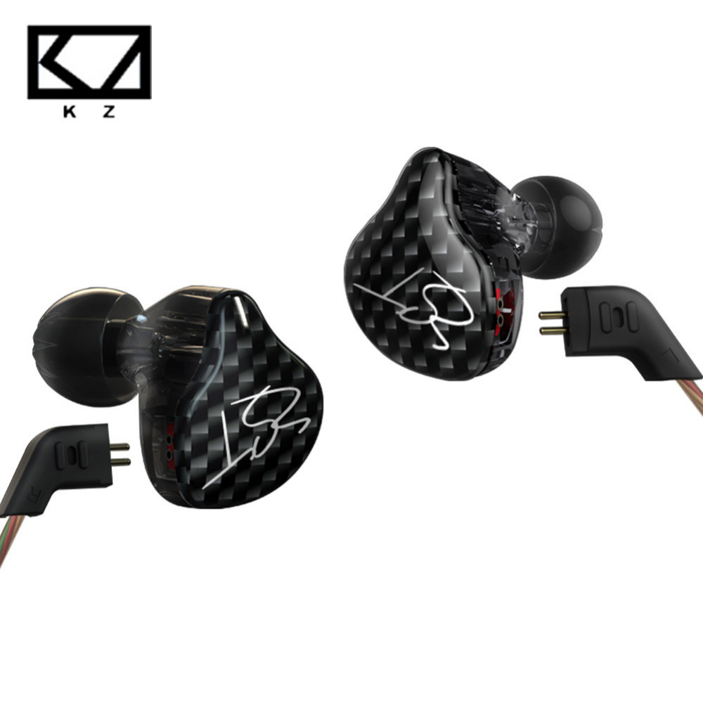 New 2016 KZ ZST Armature Dual Driver Earphone Detachable Cable In Ear Audio Monitors Noise Isolating HiFi Music Sports Earbuds  dhl free 2pcs black white m6 pro universal 3 5mm wired in ear earphone noise isolating musician monitors brand new headphones