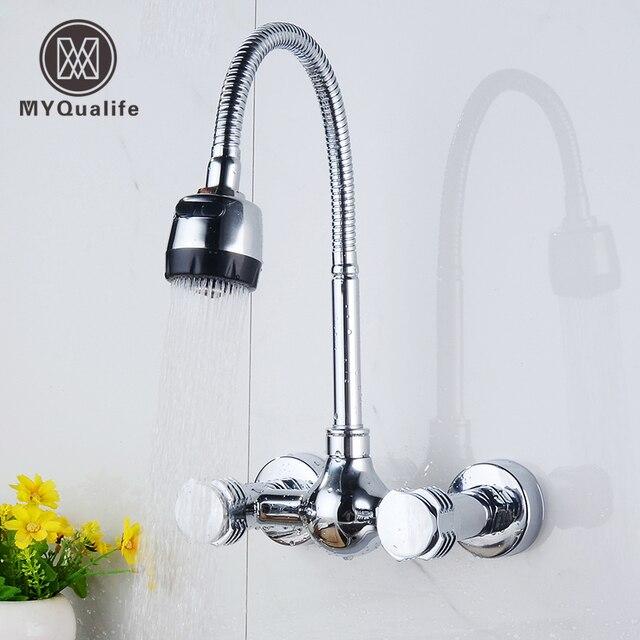 Montaggio a parete cucina acqua calda e fredda rubinetto for Tubo dell acqua calda