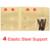 1 Pcs Respirável Cintura Cinto de Suporte Lombar Chaves de Volta Quatro Aços Tratamento da Hérnia de Disco Lombar Tensão Muscular Madeira C623