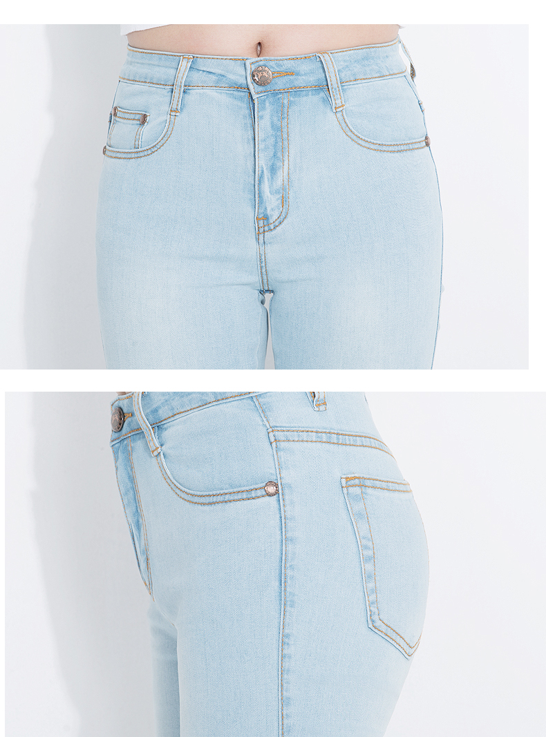 KSTUN Fashion 2018 Jeans for Women High Waist Boot Cut Light Blue Flared Embroidery Elastic Vintage Denim Pants Mujer Plus Size 19