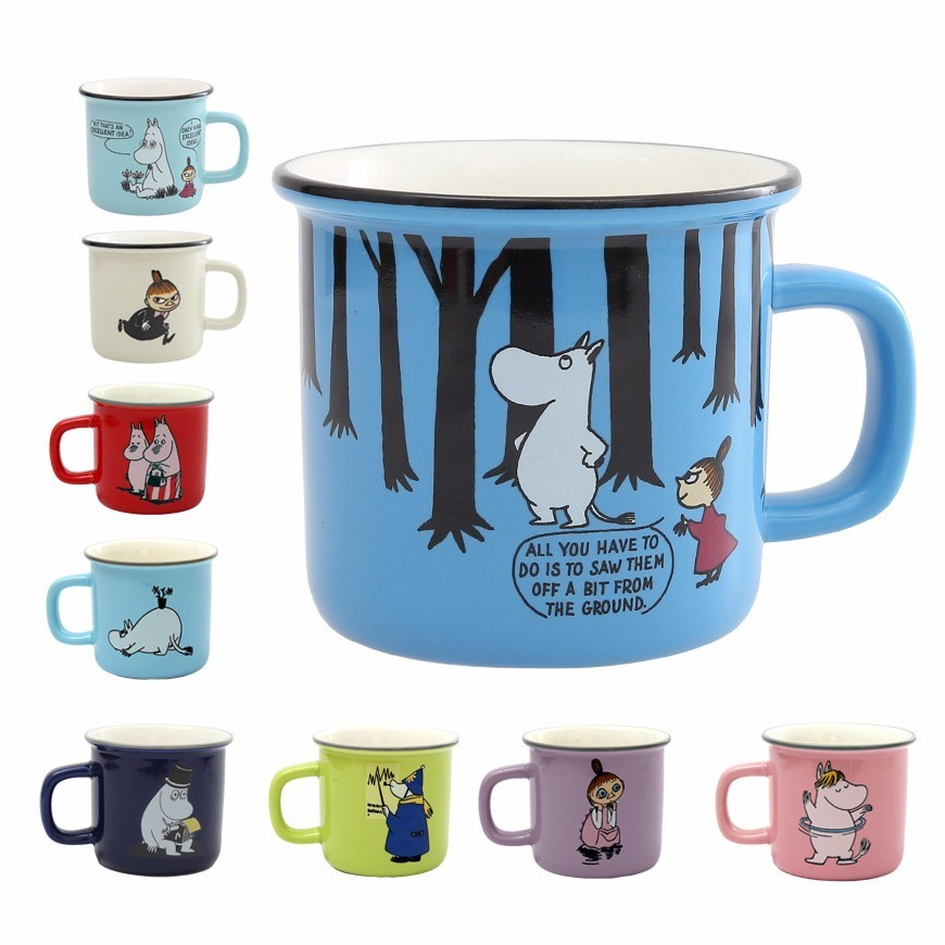 9 estilos Moomin Caneca poco mi regalo café tazas de leche Agua desayuno Copo té de dibujos animados lindo dulce amor taza de té taza de viaje
