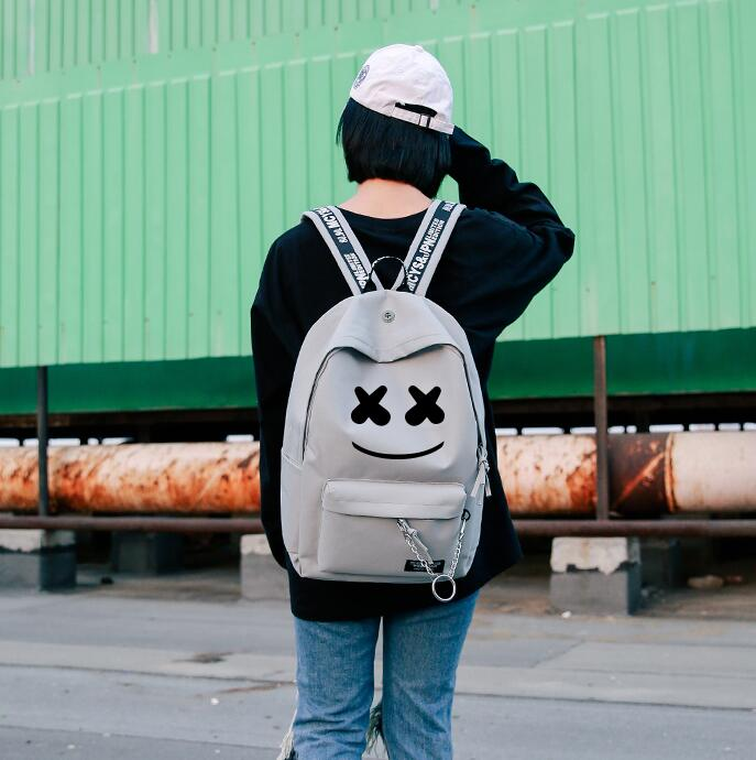 lots of colours Marshmello Dj Mask Boys School Bag  Messenger Bag Shoulder backpack Bag Cosplay bag Props