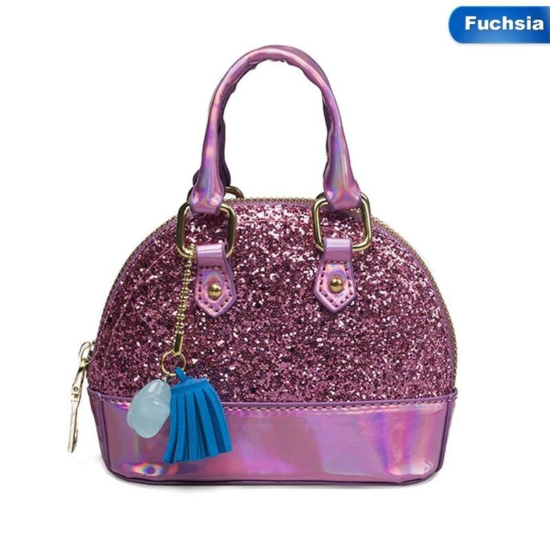 100% QualitäT Mode Glänzende Prinzessin Handtasche Mädchen Frau Tasche Pu Abend Paket Kinder Tasche Der Nette Crossbody Mini Kinder Tasche