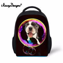 Noisydesigns 3D Bubble Dog print Back Packs 12 inch School Bags for girls boys for Kindergarten Book Bag Mini Dog Backpack(China)