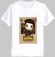 Moda lato kpop super junior członkiem obraz animowany chciał t shirt o szyi krótki rękaw biały t-shirt S-2XL top tees