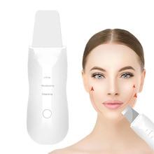 NEW Ultrasonic Facial Cleaning Skin Scrubber Spatula Blackhead Remover Cutin Peeling Skin Rejuvenation Face Lifting Pore Cleaner