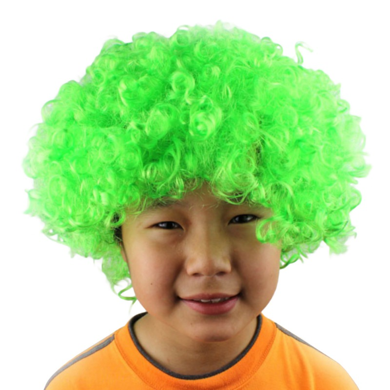 Halloween Clown Curly Afro Circus Fancy Dress Hair Wigs Xmas Party Disco  Costume For Gift Home Decor dfe825ddd7eb