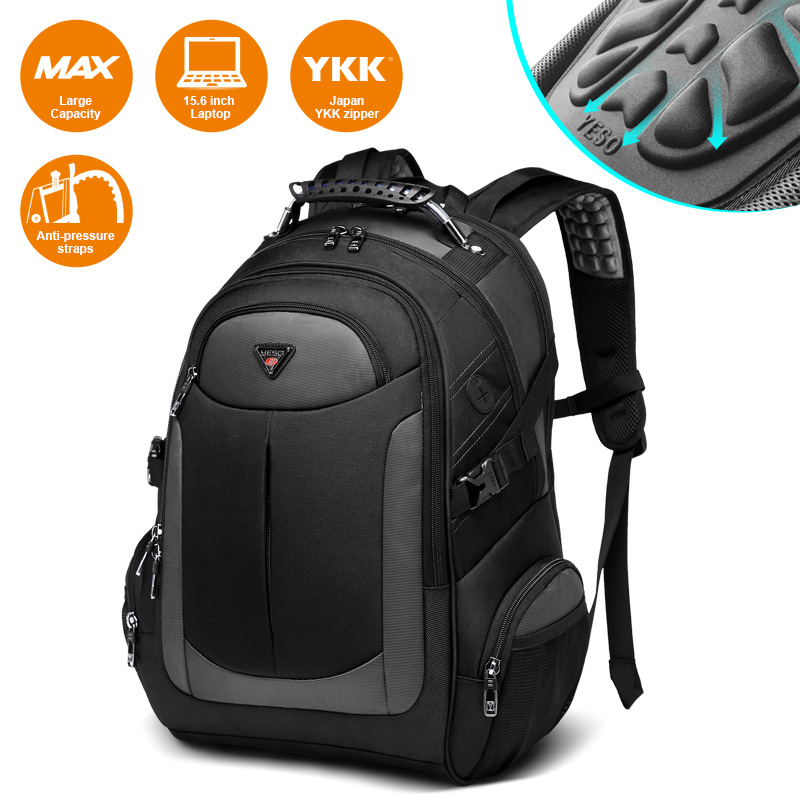 YESO Brand Laptop Backpack Men's Travel Bags 2019 Multifunction Rucksack Water Resistant Black Computer Backpacks For Teenager|backpack for teenager|laptop backpacks menbackpack men travel - AliExpress