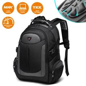 Image 1 - YESO Marka Dizüstü Sırt Çantası erkek seyahat çantaları 2019 Çok Fonksiyonlu Sırt Çantası Suya Dayanıklı Siyah Bilgisayar Sırt Çantaları Genç Için