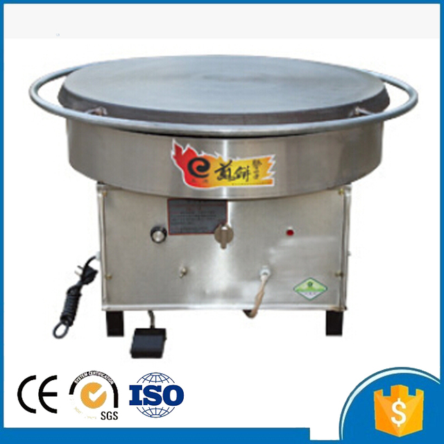 Door To Easy Operation 600mm Gas Rotating Crepe Maker Pancake And Flapjack Making Machine