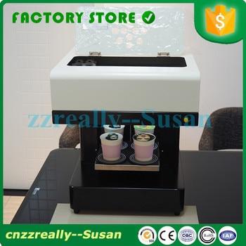 DIY art design beverage biscuit cream cake cookies food chocolate coffee printing machine for sale