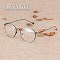 Круглый металлический каркас очки старинные оправы для очков модные очки с прозрачными линзами рецепт 1609 корейских мужчин женщины памяти