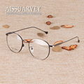 Round metal frame glasses vintage spectacle frames fashion glasses with clear lenses prescription 1609 korean men women memory