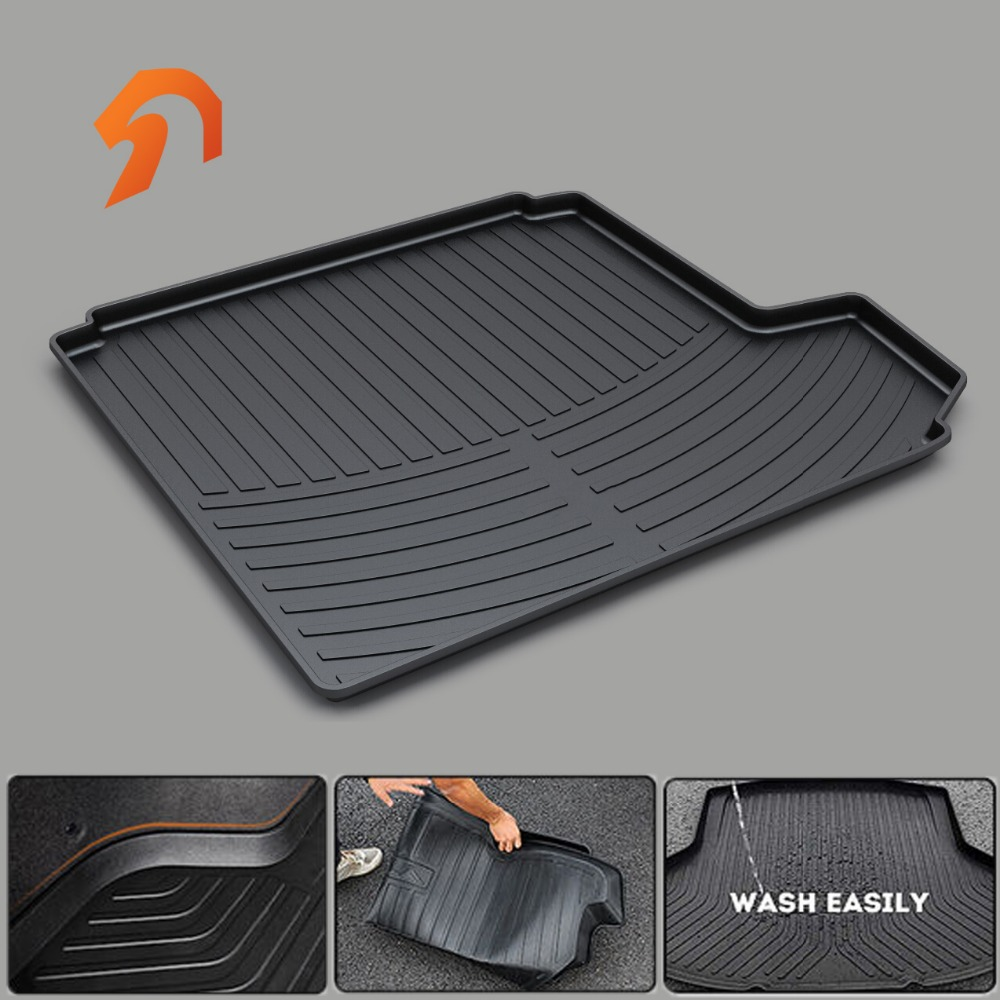 Rubber trunk mat for PEUGEOT 207 301 307 308/CC 2011 2012 2013 2014 2015 2016 BOOT LINER REAR TRUNK CARGO MATS FLOOR TRAY CARPET custom fit car trunk mats for nissan x trail fuga cefiro patrol y60 y61 p61 2008 2017 boot liner rear trunk cargo tray mats