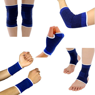 5 Pair/lot Sport Protector Set Basketball Volleyball Badminton Knees <font><b>Pads</b></font> Protection Ankle And Wrist Support Elbow <font><b>Pad</b></font> Warm