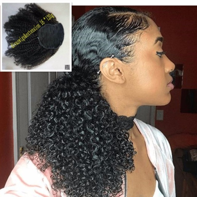Afro kinky curly weave ponytail hairstyles clip ins natural afro kinky curly weave ponytail hairstyles clip ins natural ponytails extensions drawstring ponytail short high pony pmusecretfo Image collections
