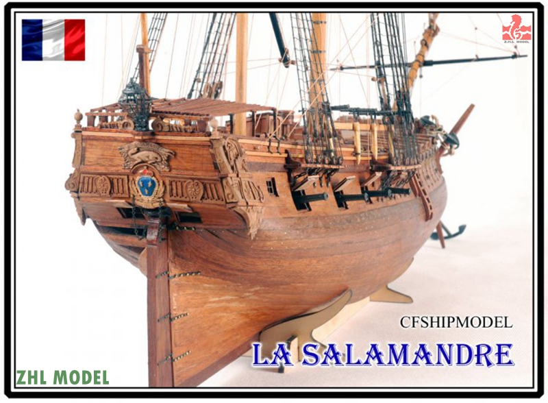 La Salamandre 1752 Model Ship Wood