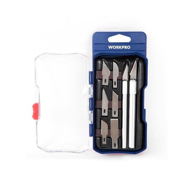 WORKPRO 8 PCS תחביב סכין הגדר אמנות קרפט סכין מתכת אזמל סכין כלים ערכת חותך חריטת קרפט סכיני