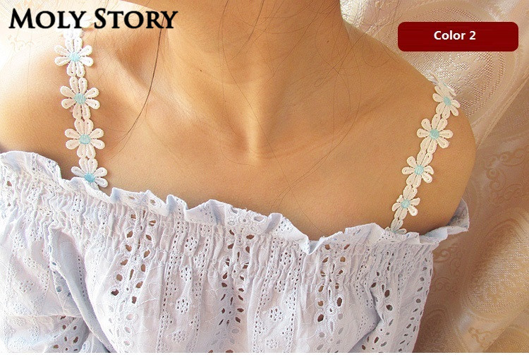 Decorative Breast Tape Shoulder Cute Flower Lace Bra Straps Replacement Underwear Belt Women Intimate Bra Accessories
