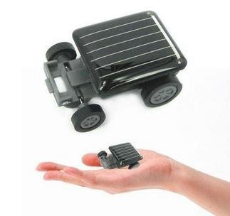 Mini Solar Car Kit Educational Solar toys Smallest Mini Solar Powered Robot Racing Car Toy