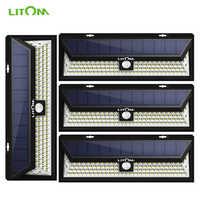 4 Pack 102 HA CONDOTTO LA Luce Solare Lampada Da Parete Per Esterni Da Giardino Luminoso Eccellente Sensore di Movimento Luci di Sicurezza Senza Fili Impermeabile Luces Solares