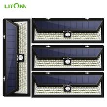 4 Pack LITOM 102 LED Wireless Solar Lights Outdoor Garden Bright Motion Sensor Security Lights Waterproof IP65 hot Luces Solares