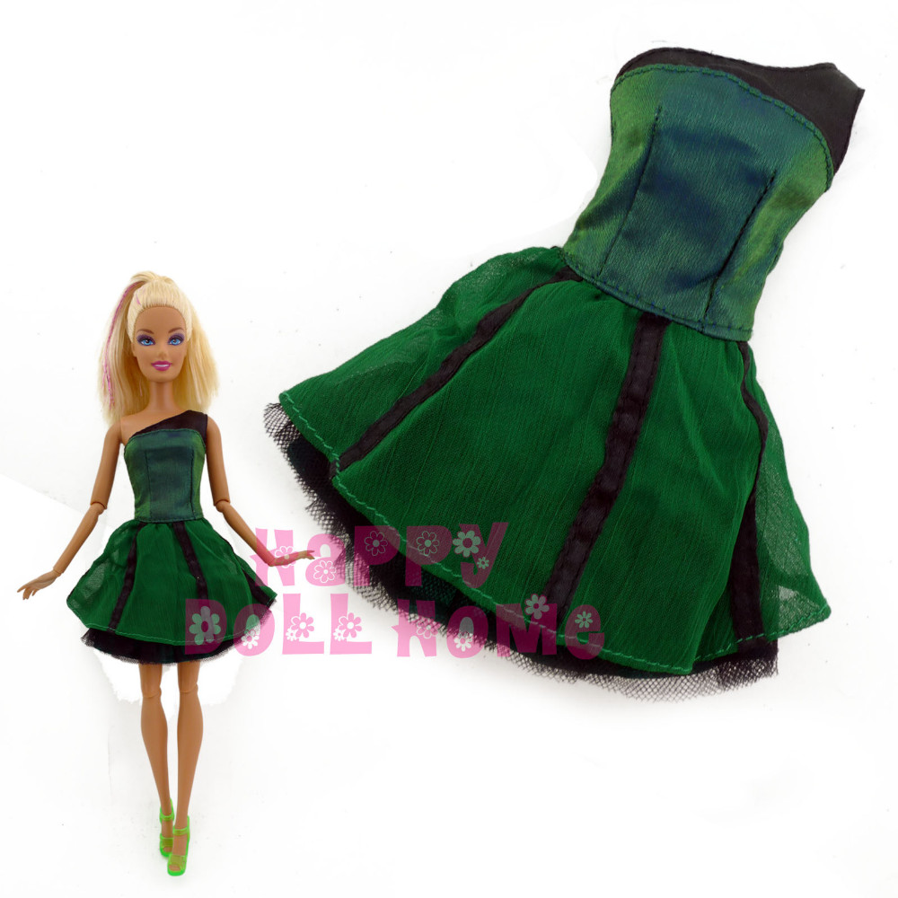 Free Shipping One PCS  Doll's Dress Princess Gown Casual Handmade Skirt  For Barbie Doll christmas Gift Baby Toy hot newest 18 inch handmade vinyl doll bjd doll with dress beautiful princess doll toy for children christmas gift