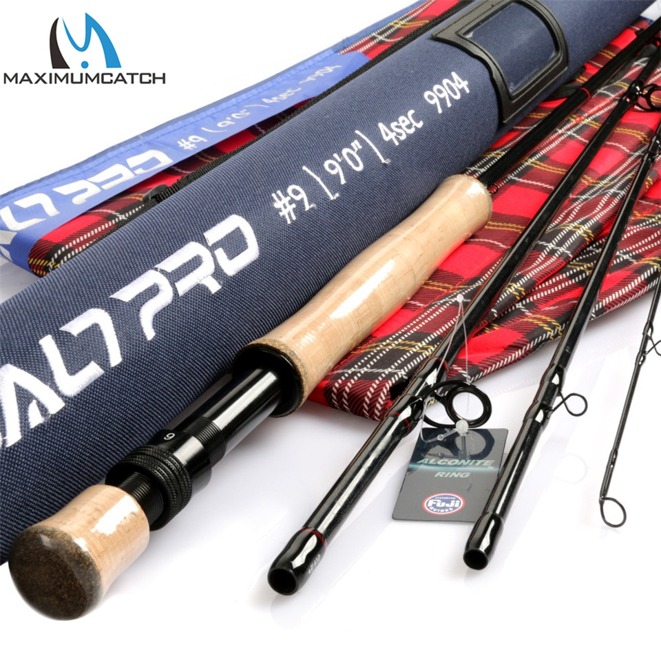 Maximumcatch Saltpro 8/9/10WT 9FT 4SEC Saltwater Fly Fishing Rod 30T+40T SK Carbon Fast Action Fly Rod With Cordura Rod Case