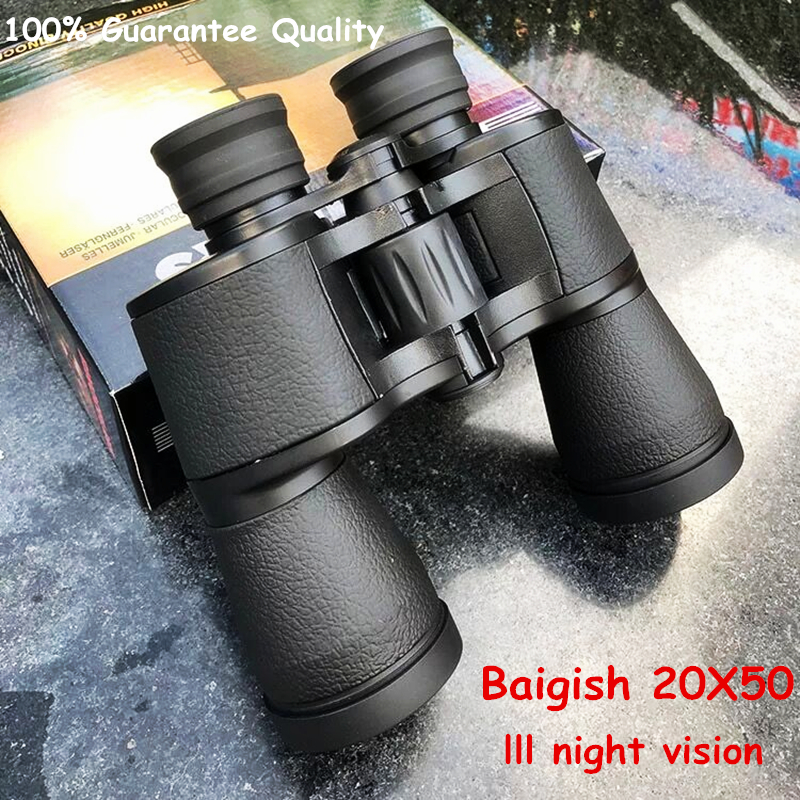 Image 5 - Baigish 20X50 Big Eyepiece Wide Angle Zoom Lll Night Vision Binoculars Outdoor Professional Military Travel Binocular-in Monocular/Binoculars from Sports & Entertainment